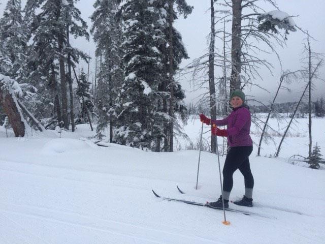 Cross-country skiing at Stake Lake near Kamloops. Photo: Caitlin Johnson