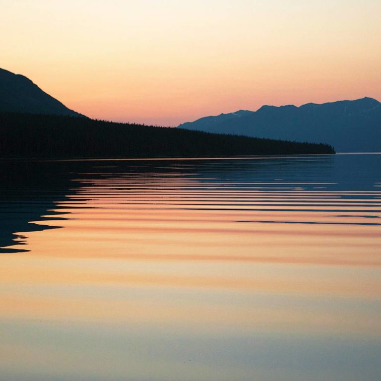 View of Atlin Lake in Northern BC.